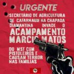 A mando de Secretário de Agricultura de Cafarnaum, pistoleiros aterrorizam acampados do MST na Chapada Diamantina.