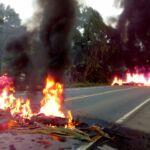 MST protesta contra descaso do governo que vem causando mortes na BR 101.