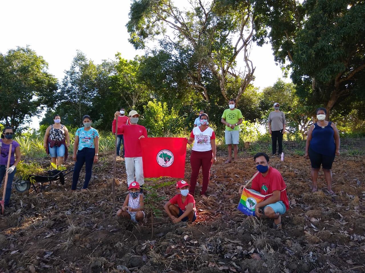 MST planta arvores e realiza ato de solidariedade na região do Extremo Sul da Bahia