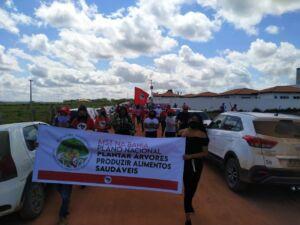 Ato de Resistência do MST na Bahia marca a retirada da Força Nacional de Segurança do Estado.