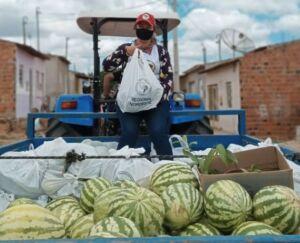 Mulheres Sem Terras doam alimentos e protestam contra Bolsonaro em Santa Brígida-BA
