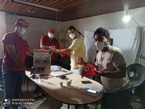 MLB e MST reafirmam os princípios de solidariedade e unidade, durante visita na ocupação Carlos Marighella, em Salvador.